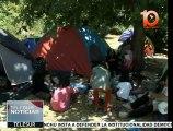Grecia: más de 400 migrantes afganos sobreviven en un parque de Atenas