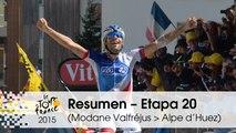 Resumen - Etapa 20 (Modane Valfréjus > Alpe d'Huez) - Tour de France 2015