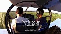 DR400 au décollage de St-Cyr et à l'atterrissage à Etampes