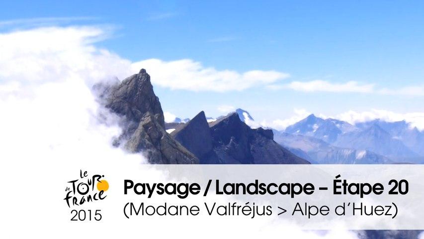 Paysage du jour / Landscape of the day - Étape 20 (Modane Valfréjus > Alpe d'Huez) - Tour de France 2015