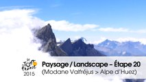 Paysage du jour / Landscape of the day - Étape 20 (Modane Valfréjus > Alpe d'Huez) - Tour de France 2015