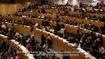 Najat Vallaud-Belkacem à l'ONU pour défendre les droits des femmes