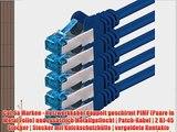 3m - CAT6a - Netzwerkkabel SET | blau - 5 St?ck | CAT 6a | S-FTP | doppelt geschirmt - GHMT