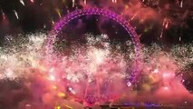 2015 New Years Eve Celebrations Fireworks & Big Ben, London UK