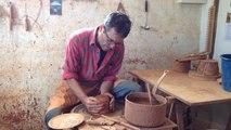Démonstration de poterie par Gérard Meunier, potier professionnel