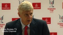Arsene Wenger reaction Arsenal vs Olympique Lyonnais Emirates