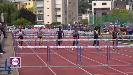 Finale 100 m haies Espoirs