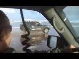 Nissan Patrol beach ride at sunrise