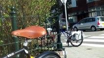 test ride , Dutch bicycle by BRIK , no chain , shaft driven !!  ( cardan fiets )