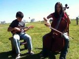 Over the Rainbow, cello/ukulele duet