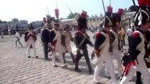 Fontainebleau - Garde napoléonnienne - Retour reconstitution ''Adieux de Fontainebleau'' 24.04.2011