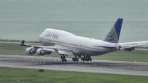 Hong Kong Airport Plane Spotting. Boeing 747s only. Landings. 747-400 and 747-8