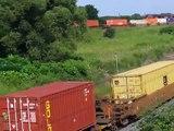 TRIPLE MEET - Three Freight Trains Meet Near Lake Ontario