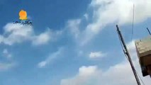 Syrian Air Fore Drops Parachute Barrel Bombs On Rebel strong