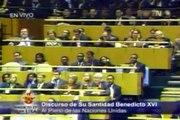 Benedicto XVI en las Naciones Unidas