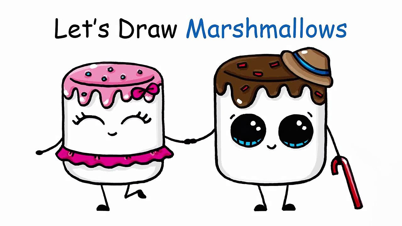 How To Draw Cartoon Marshmallow Cute And Easy Video Dailymotion