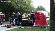 Grote ravage bij ongeval op provincialeweg, Hapert