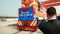 La línea de tren más larga del mundo que une China con Madrid hace su primer viaje