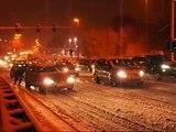 Hevige sneeuwval hindert verkeer in Hasselt (B)