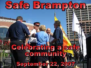 Brampton Safe City Day World Health Organization Designation