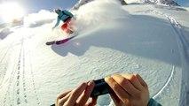 GoPro HD Hero Slow Motion Alpine & Telemark Freeriding in Sportgastein, Gastein - Skiing, Twixtor