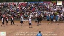 Mène 11 et fin M2, finale France Quadrettes 2015, Sport Boules, Saint-Denis-lès-Bourg 2015