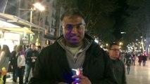 Pakistani street seller Las Ramblas Barcelona Spain