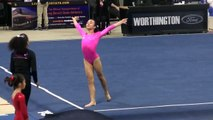 USA Gymnastics Jr Olympic 2013 So Cal Level 9 State Championships Floor, Trisha Raquel 1st Place
