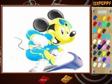 Disney Clubhouse Mickey Mouse  - Mickey Mouse Skiing Coloring   米老鼠   米奇滑雪:著色   ミッキーマウス