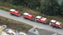 Regardez les images aériennes de l'incendie en Gironde