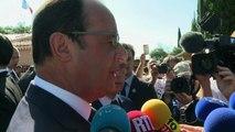 """Hollande sur les agriculteurs: """"Nous sommes à leurs côtés"""""""