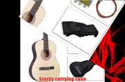 Super buy 38 inch Acoustic Guitar With Guitar Case Strap Tuner and Pick for New Beginners