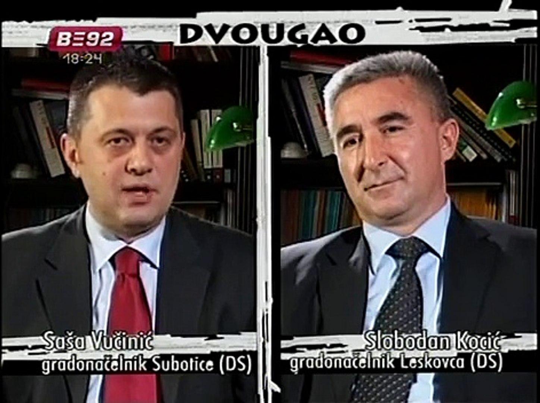 TV B92 - Dvougao Saša Vučinić i Slobodan Kocić