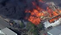 Un violent incendie ravage une usine à Sydney