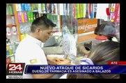 Ate: dueño de farmacia es asesinado a balazos por sicarios