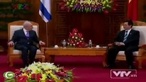 Vietnam's PM Nguyen Tan Dung received Israel's President Shimon Peres