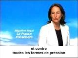 Spot de campagne de Ségolène Royal