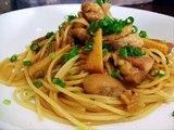 Bamboo shoots and chicken pasta recipe 筍と鶏肉の和風パスタのレシピ・作り方