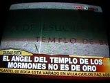El canal CRÓNICA TV difunde noticia sobre el  Templo de Buenos Aires. Argentina ,agosto 2012