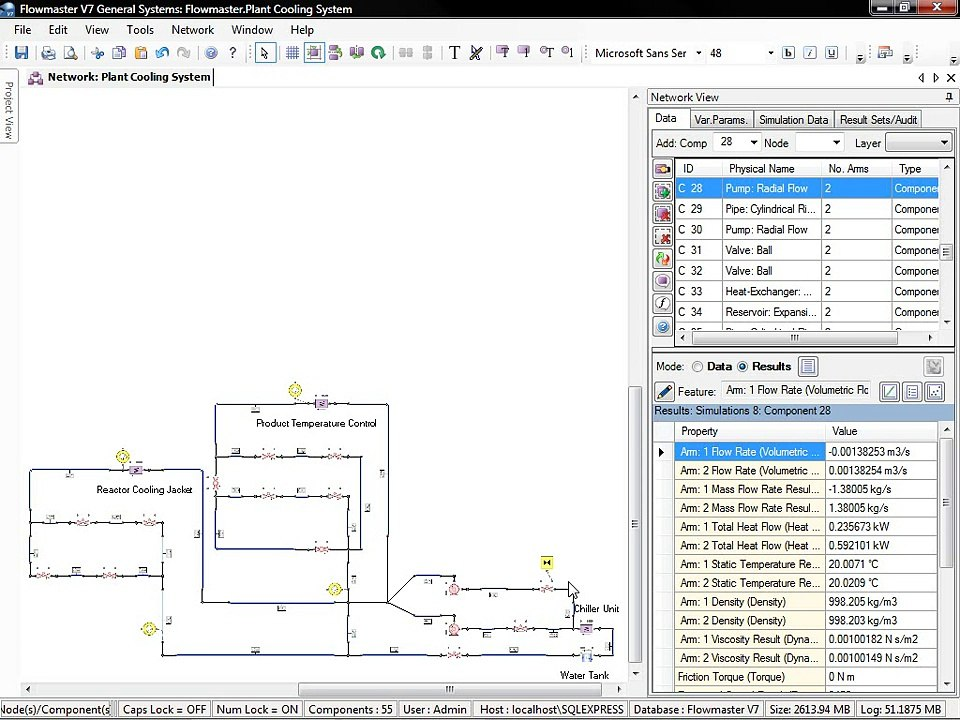 Cooling System Modelling, Thermo-fluid Simulation - Flowmaster V7 Software