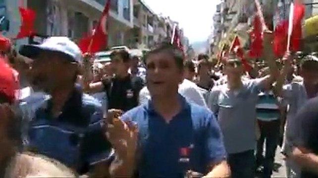 Şehit Astsubay Yavuz'u, Salihli'de son yolculuğuna 5 bin kişi uğurladı
