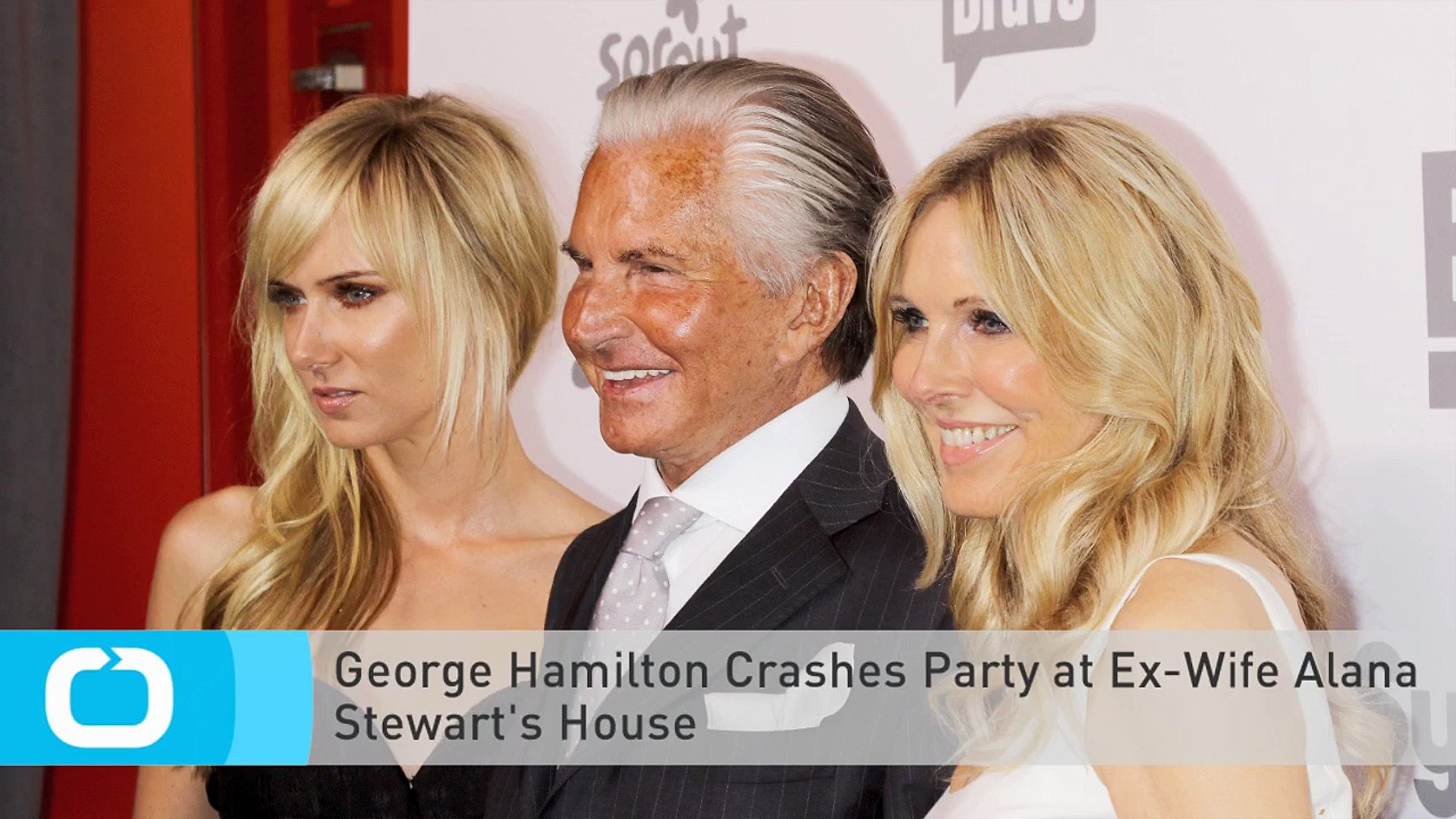George Hamilton Crashes Party at Ex-Wife Alana Stewart's House