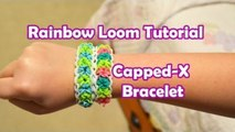 Rainbow Loom Tutorial  | Capped-X Bracelet by Bethany G