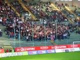 Cori Tifosi Cagliari allo stadio Nereo Rocco in Cagliari - Catania 3-0