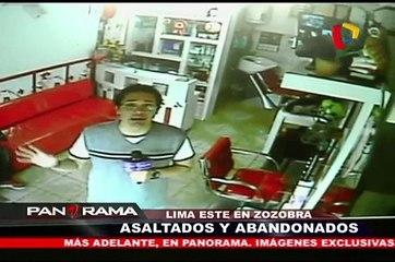Lima Este en zozobra: asaltados y abandonados