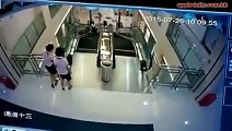 Mother Saves Son From Broken Escalator Seconds Before It Kills Her