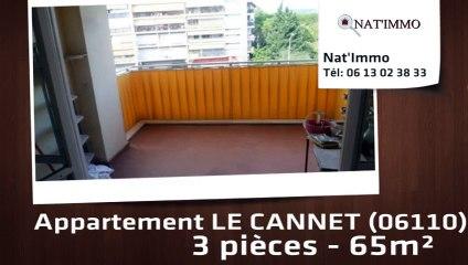 LE CANNET - LE Cannet : 3 Pièces trvarsant 65 m² - parking