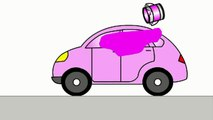 Smart Kids Learn Color Cartoons for Children 5   Coloured Cars 聪明的孩子创建具有彩色形状 ABC 123