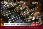 China-US military bands hold joint concert