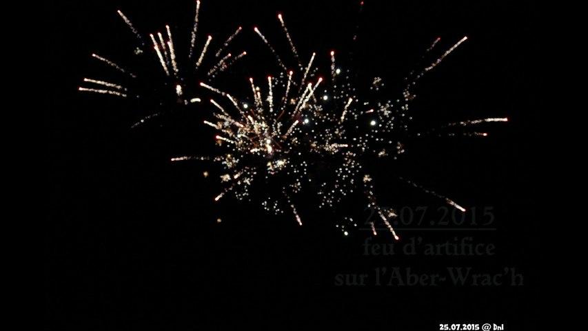 25 07 2015 feu d'artifice sur l'Aber-Wrac'h Landéda